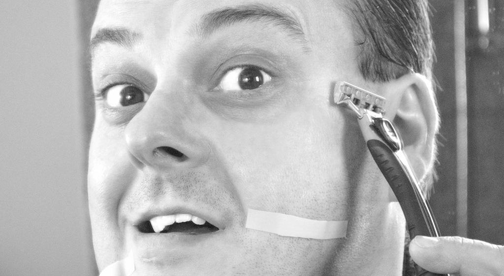 Mala técnica de afeitado