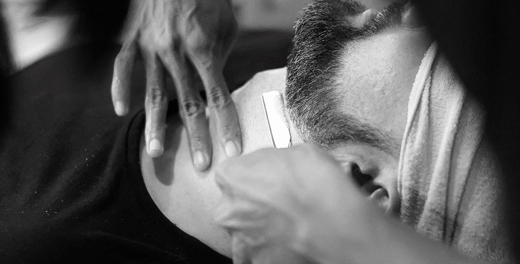 máquina eléctrica afeitar cuello vs normal