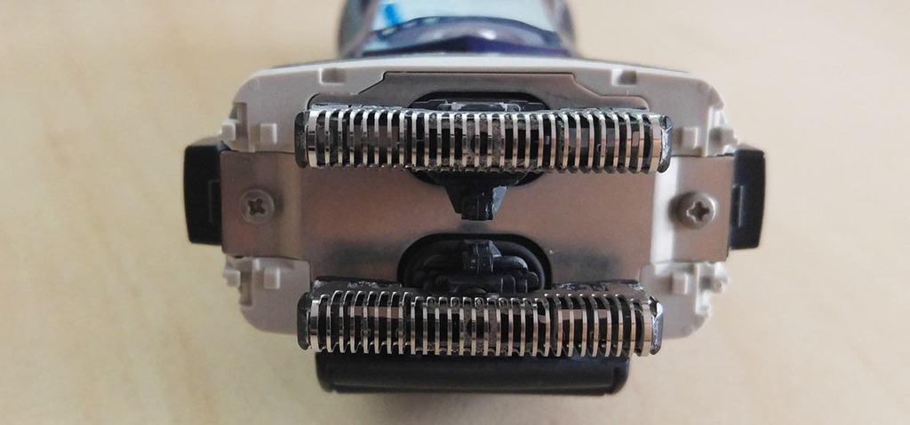 Interior de las cuchillas de una panasonic de láminas