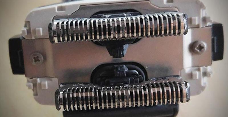 cambiar cuchillas y láminas de máquinas de afeitar eléctrica