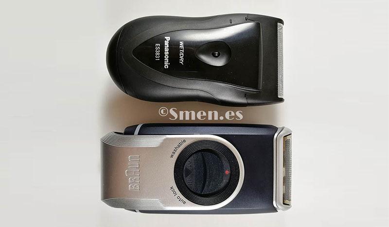 Diferencia tamaño Panasonic es3831K braun M90