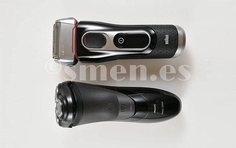 Comparación tamaño Philips S3510 y Braun serie 5