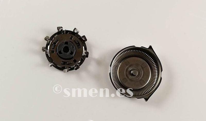 Cuchillas desmontadas Philips Shaver 3510 cabezal abierto